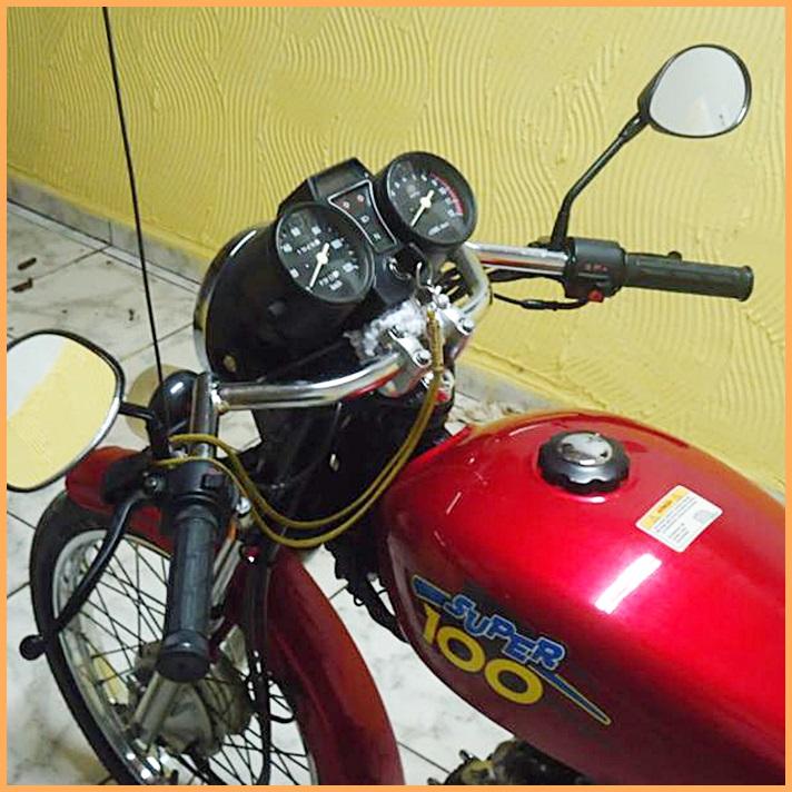 Guidão 7/8 Café Racer - Cromado  - Race Custom