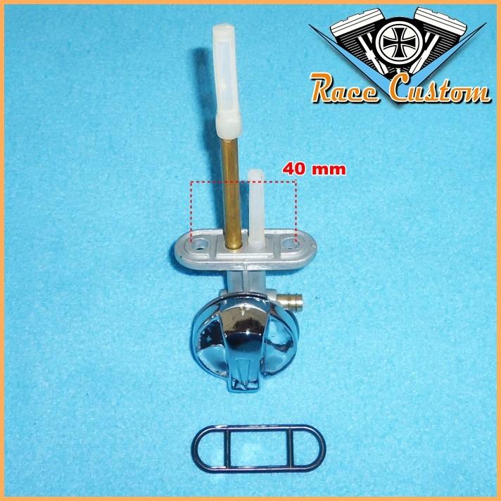 Torneira de Gasolina Compatível Diversas Custom - Botão Cromado  - Race Custom