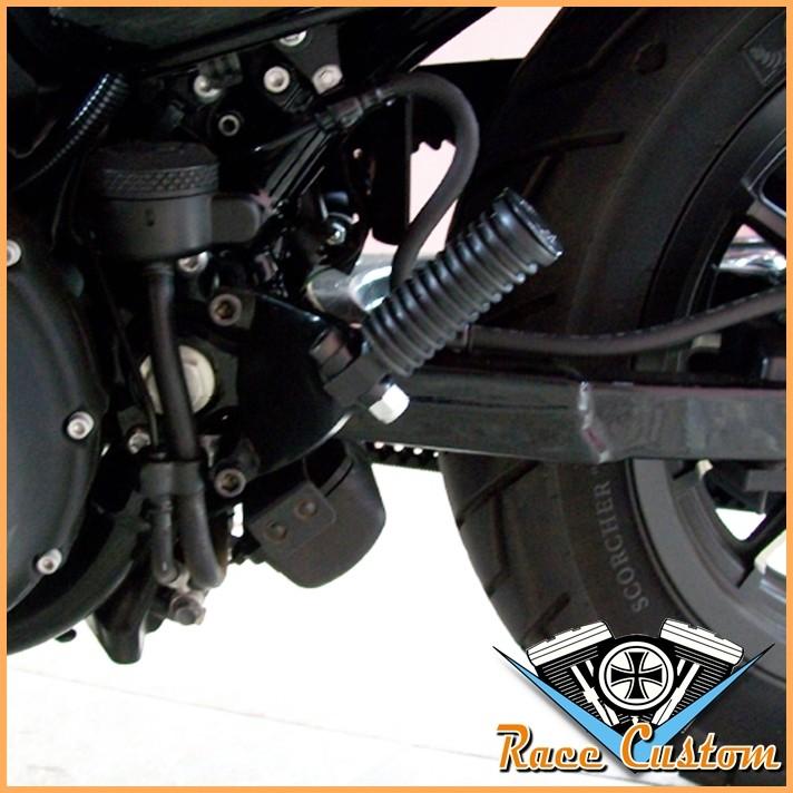 Pedaleiras Traseiras e Suportes para Sportster 883 1200 Até 2013 sem ABS  - Race Custom