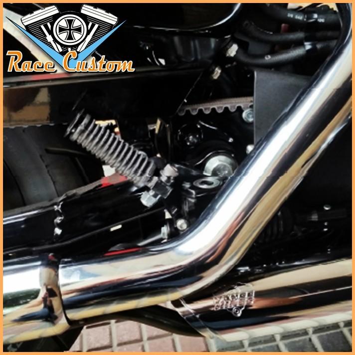 Pedaleiras Traseiras e Suportes para Sportster 883 1200 com ABS  - Race Custom