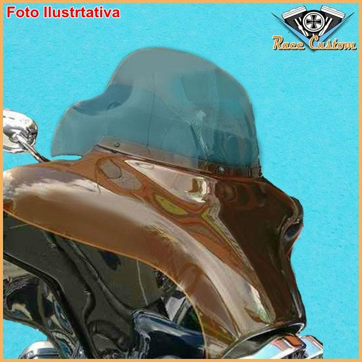 Parabrisa Harley Electra Glide, Street Glide, Ultra Classic 96 a 13 - Fumê Claro - 10 Pol.  - Race Custom
