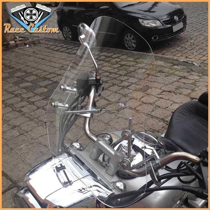 Parabrisa Bolha Universal - Moto Custom - Cristal  - Race Custom