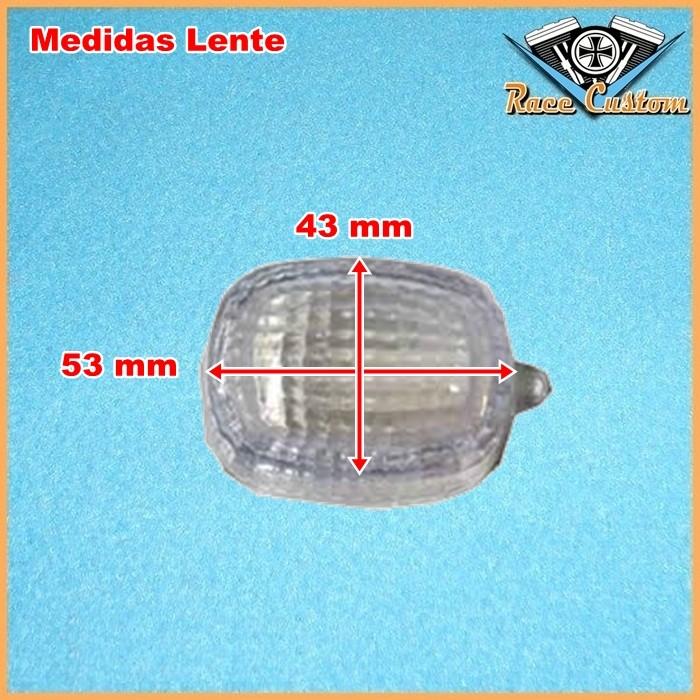 Pisca Retangular Bullet Preto Lente Cristal Com Lâmp - PAR  - Race Custom