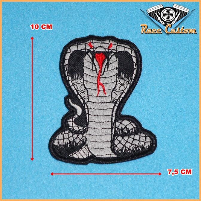 Patch Bordado Cobra Naja - 10 x 7,5 Cm  - Race Custom