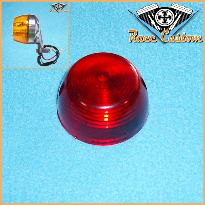 Lente Pisca CG Antiga Vermelha - Unidade  - Race Custom