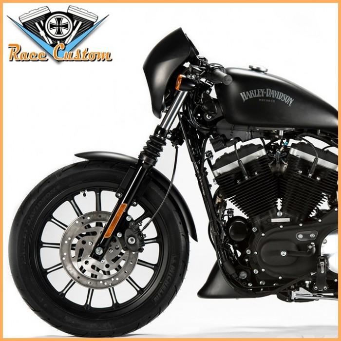 Carenagem de Farol Harley Sportster 883 e 1200 - Preto Fosco  - Race Custom