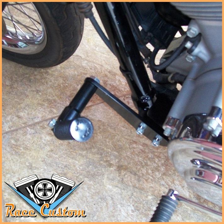Pedaleira Avançada Harley Davidson Dyna Preto - Descanso Highway Peg  - Race Custom