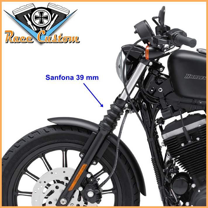 Sanfona Suspensão Dianteira Compatível Harley Davidson Sportster Iron  - Race Custom