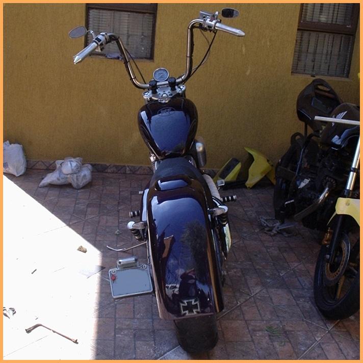 Paralama Traseiro Shadow VT600 Modelo Mamute  - Race Custom