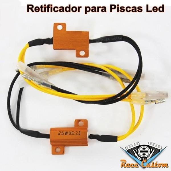 Retificador de Voltagem para Piscas LED 8,20 OHM, 25 W (PAR)  - Race Custom
