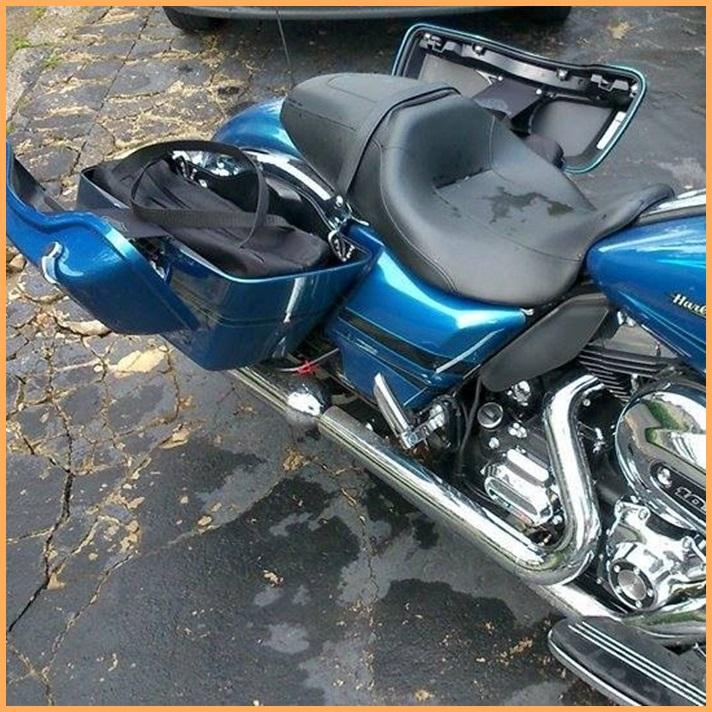 Bolsa Interna Alforge Harley Davidson Electra Glide - Par  - Race Custom