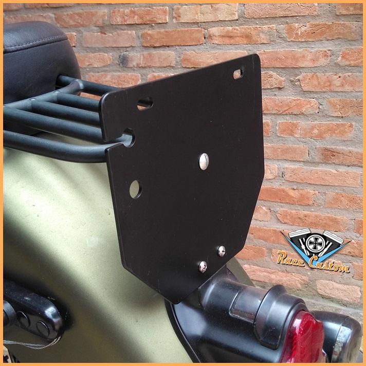Suporte de Placa Harley Deluxe  - Preto  - Race Custom