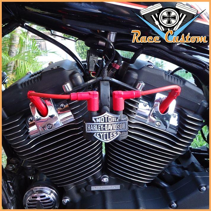 Cabo de Vela Harley Davidson Realocação Bobina - Vermelho  - Race Custom