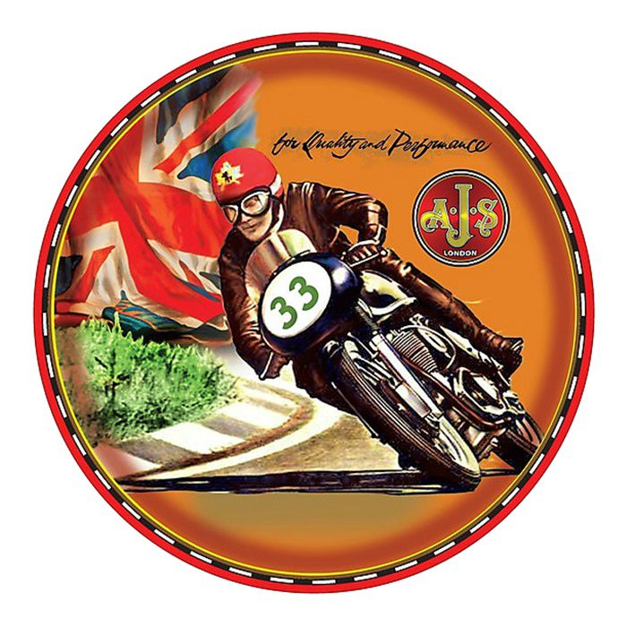 Adesivo AJS Cafe Racer - Unidade  - Race Custom