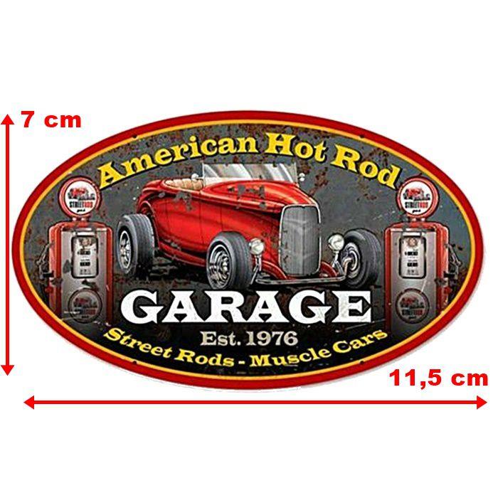Adesivo American Hot Rod Garage - Unidade  - Race Custom