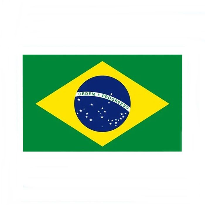Adesivo Bandeira do Brasil - Unidade  - Race Custom