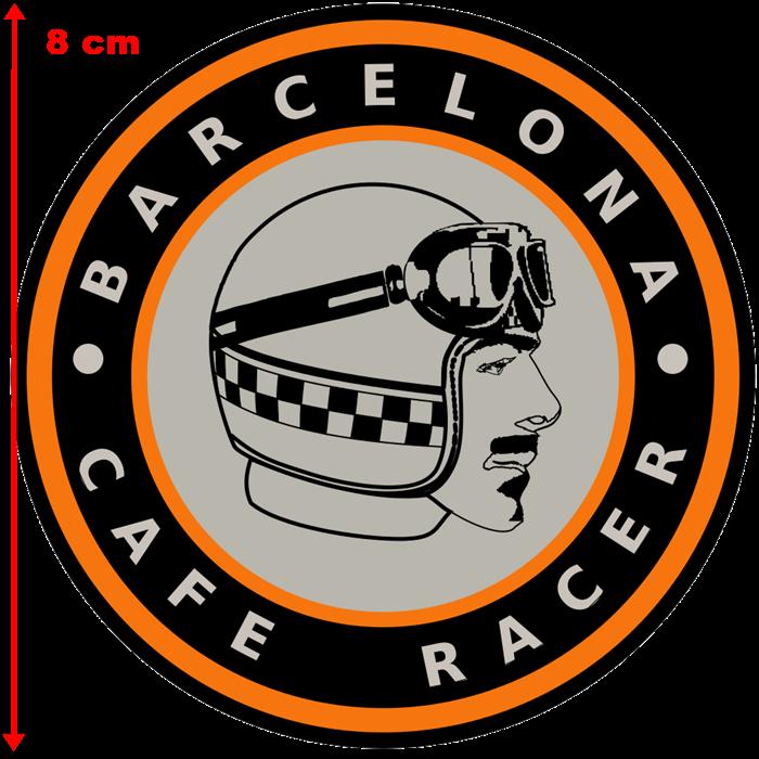 Adesivo Barcelona Cafe Racer - Unidade  - Race Custom