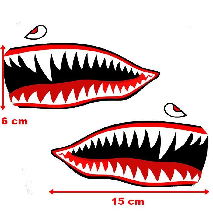 Adesivo Boca Tubarão - PAR  - Race Custom