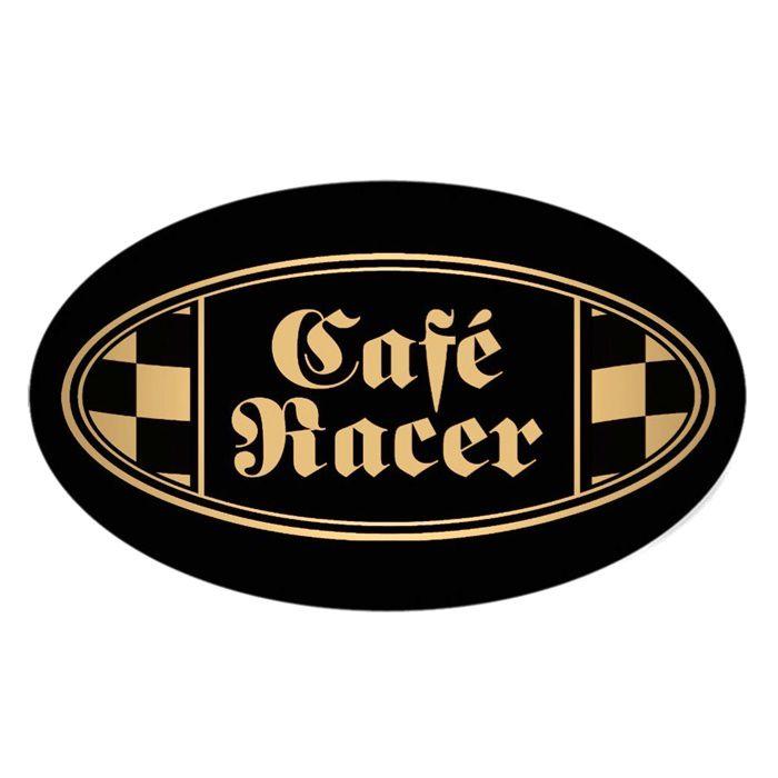 Adesivo Cafe Racer Dourado e Preto - Unidade  - Race Custom