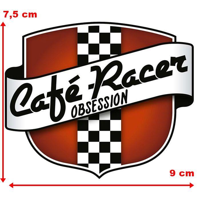 Adesivo Cafe Racer Obsession - Unidade  - Race Custom