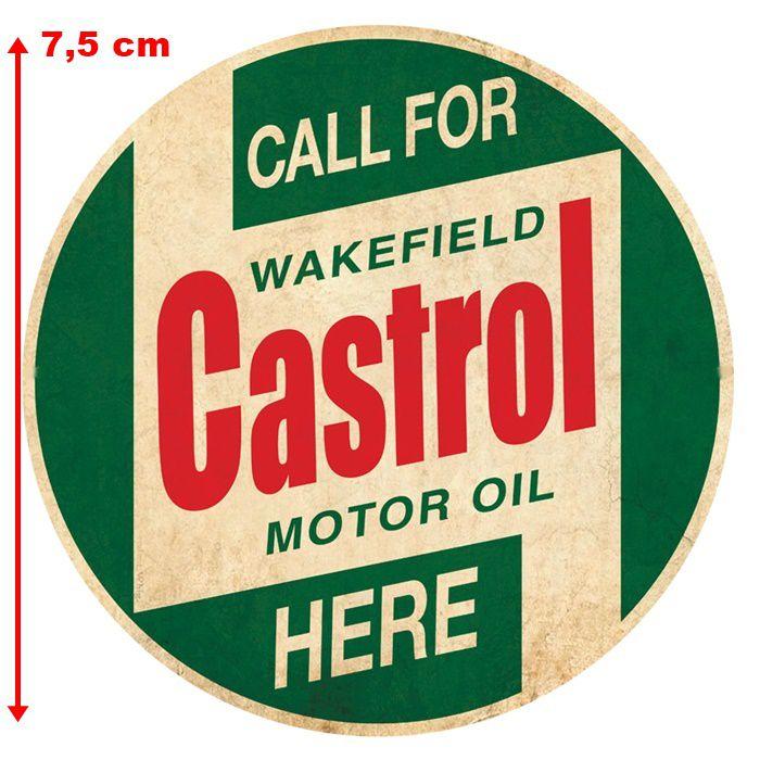 Adesivo Castrol Motor Oil - Unidade  - Race Custom