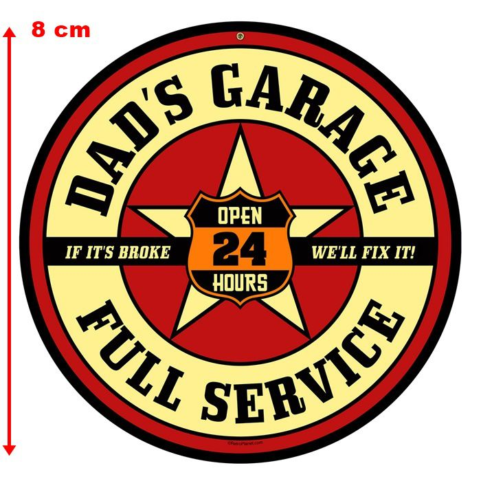 Adesivo Dads Garage Full Service - Unidade  - Race Custom