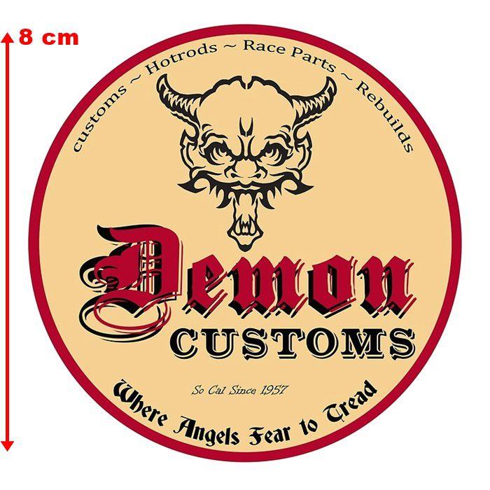 Adesivo Demon Customs - Unidade  - Race Custom