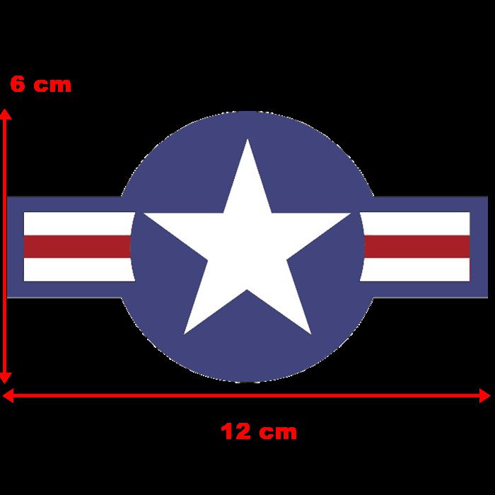 Adesivo Estrela Militar - Unidade  - Race Custom