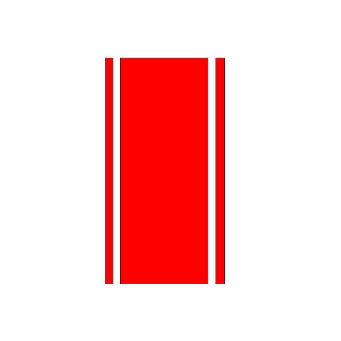Adesivo Faixa Café Racer Vermelha - Unidade  - Race Custom