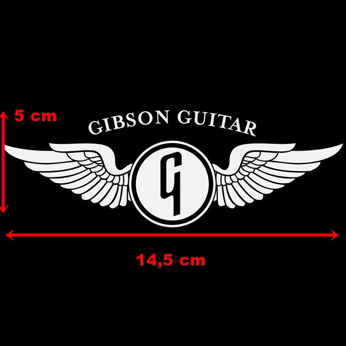 Adesivo Gibson Guitar Ploter Branco - Unidade  - Race Custom