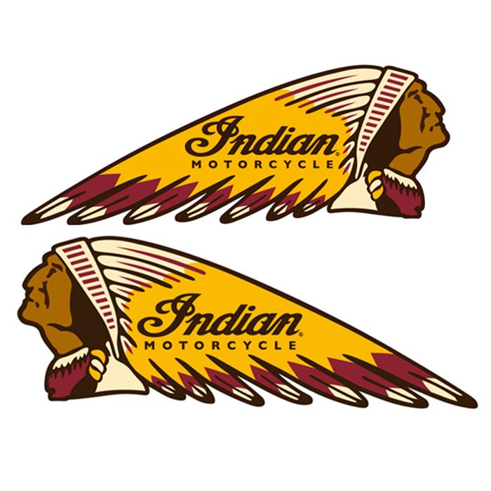 Adesivo Indian Motorcycles - PAR  - Race Custom