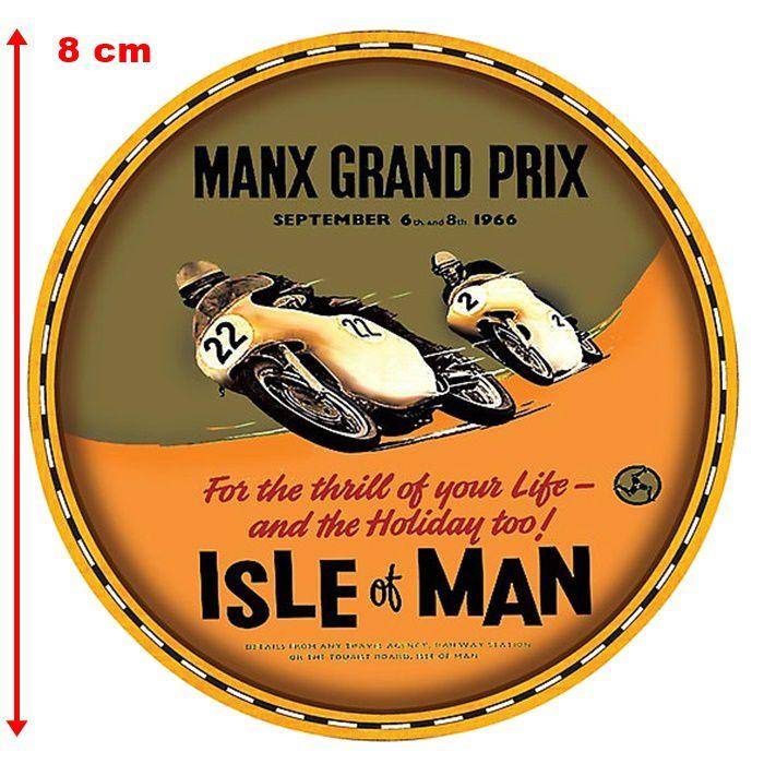 Adesivo Manx Grand Prix - Unidade  - Race Custom