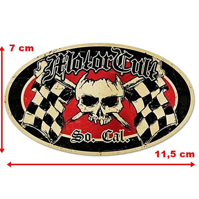 Adesivo Motor Cult Flag - Unidade  - Race Custom