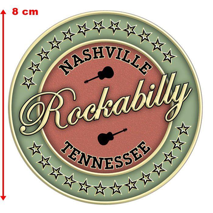 Adesivo Nashville Rockabilly - Unidade  - Race Custom