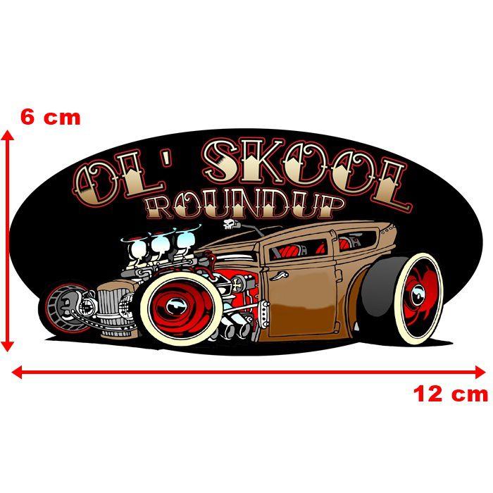 Adesivo Ol Skool Roundup - Unidade  - Race Custom