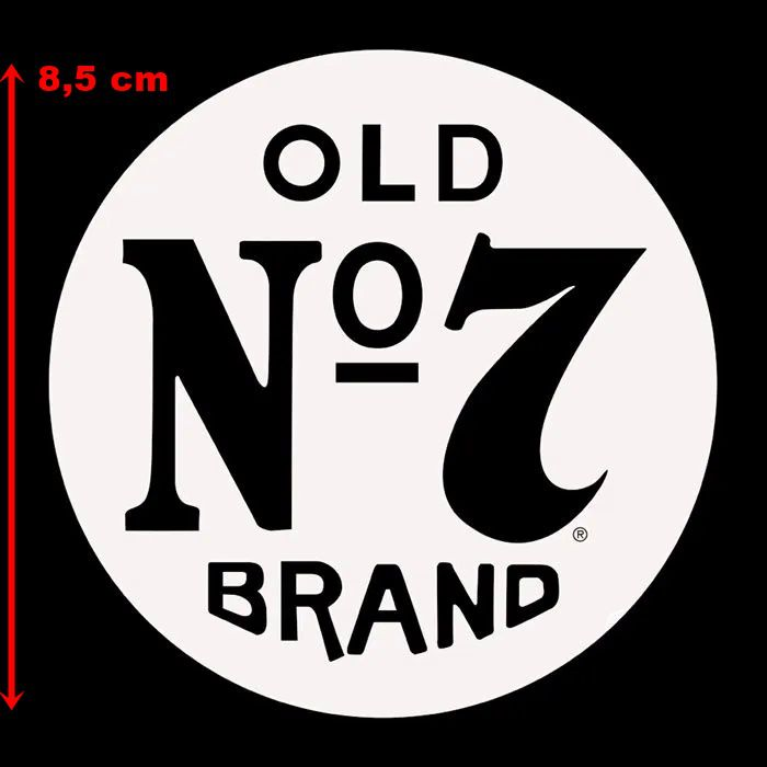 Adesivo OLD Nº7 em Plotter Branco - Unidade  - Race Custom