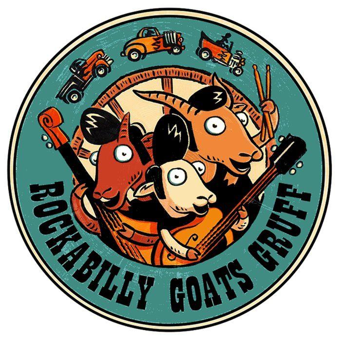 Adesivo Rockabilly Goats - Unidade  - Race Custom