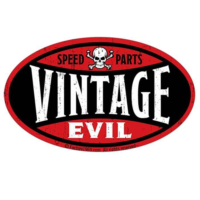 Adesivo Speed Parts Vintage Evil - Unidade  - Race Custom