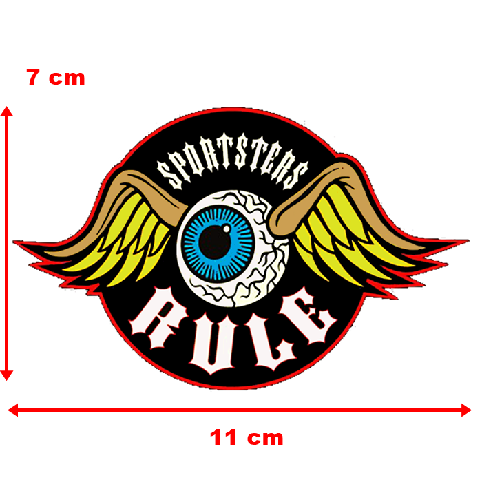 Adesivo Sportsters Rule - Unidade  - Race Custom