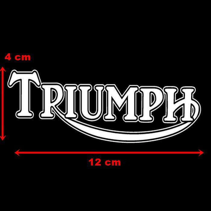 Adesivo Triumph Branco em Plotter - Unidade  - Race Custom