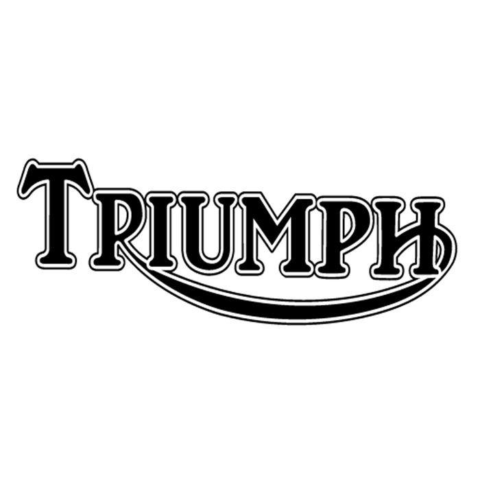 Adesivo Triumph Preto em Plotter - Unidade  - Race Custom