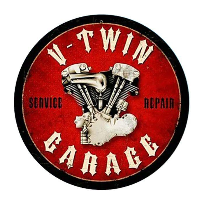 Adesivo V-Twin Garage - Unidade  - Race Custom