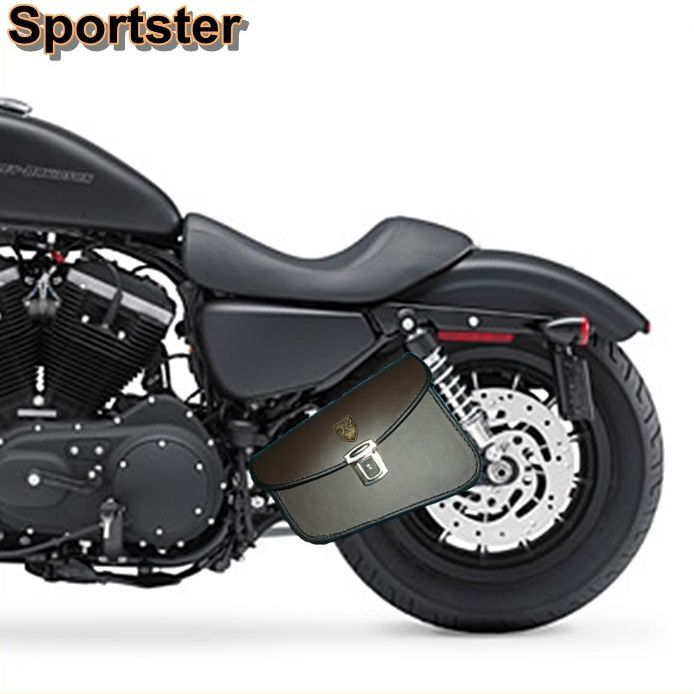 Alforge Lateral Solo Bag Harley Davidson Sportster 883 Com Fechadura - Marrom  - Race Custom