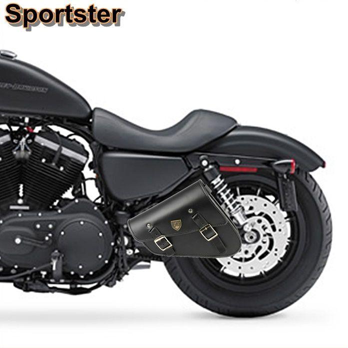 Alforge Lateral Solo Bag Harley Davidson Sportster 883 - Preto  - Race Custom