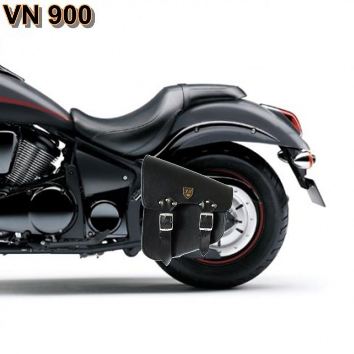 Alforge Lateral Solo Bag HD Softail, Shadow, Vulcan 900 - Couro Legítimo  - Race Custom
