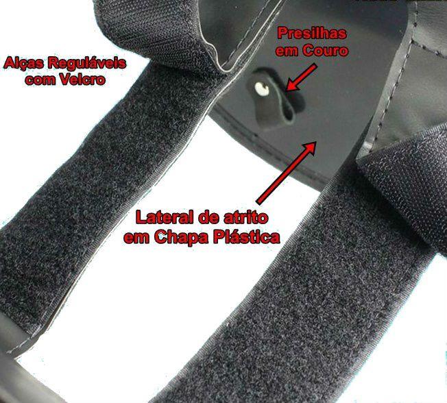 Alforge Par Lateral Losango 32L Preto Com Cravo  - Race Custom