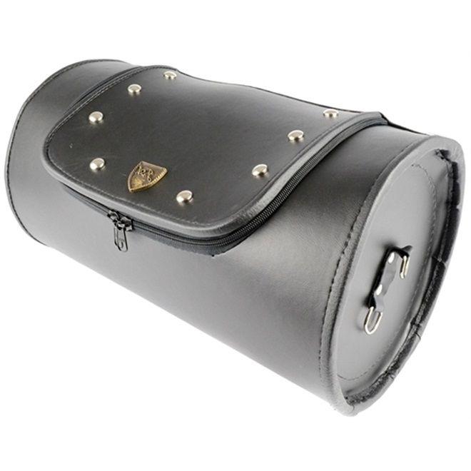 Alforge Traseiro Bolsa 26 Litros Roll Bag Preto Com Cravo  - Race Custom