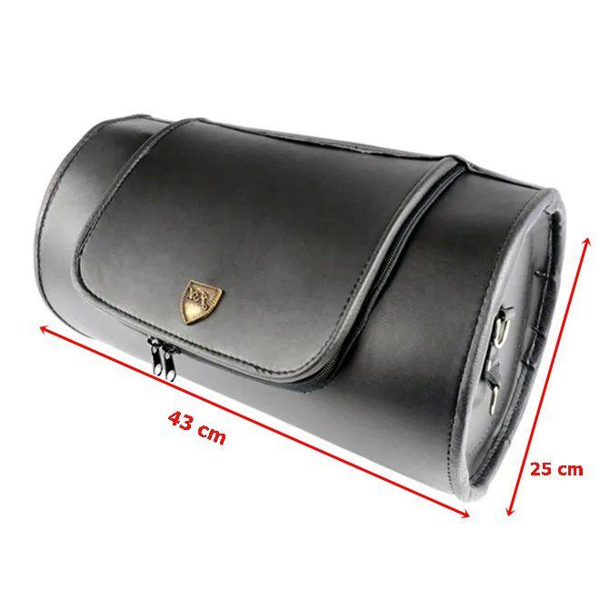 Alforge Traseiro Bolsa 26 Litros Roll Bag Preto Liso  - Race Custom