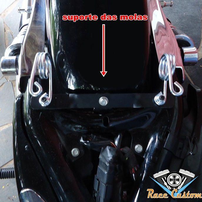 Banco Solo Mola e Carona Harley Davidson Sportster 883 - Preto Gomos  - Race Custom