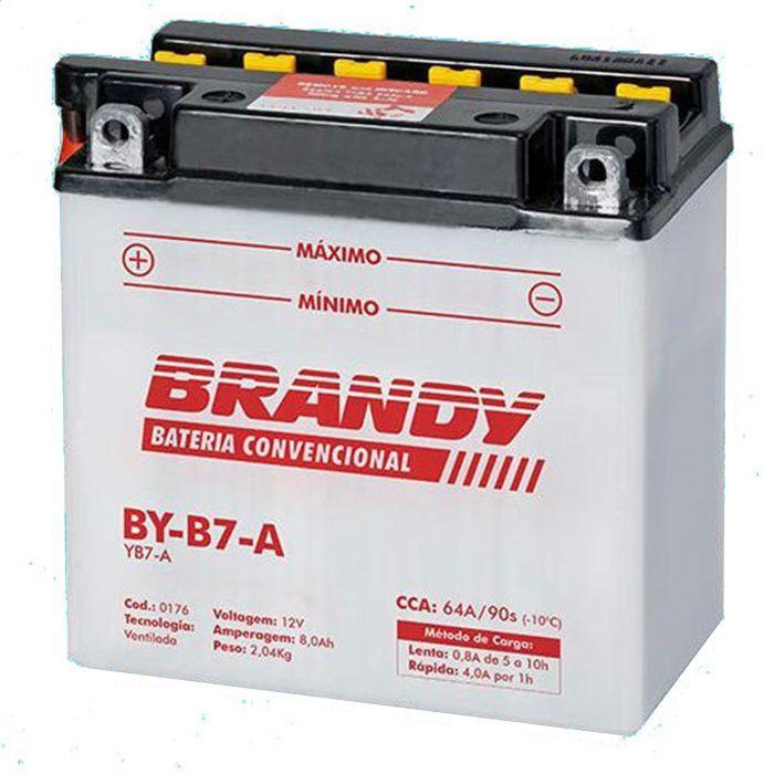 Bateria BY-B7-A - Intruder 125,  kansas 150 e Shark 250  - Race Custom